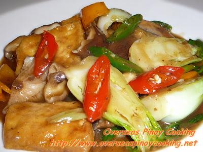 Bok Choy and Tofu with Black Bean Sauce