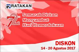 Pesta Diskon Ratakan Menyambut HUT RI ke 72