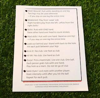 The Rules of Ninja Golf