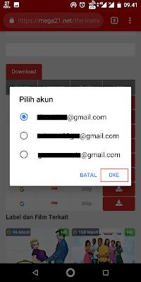 Pilih akun google Sobat.