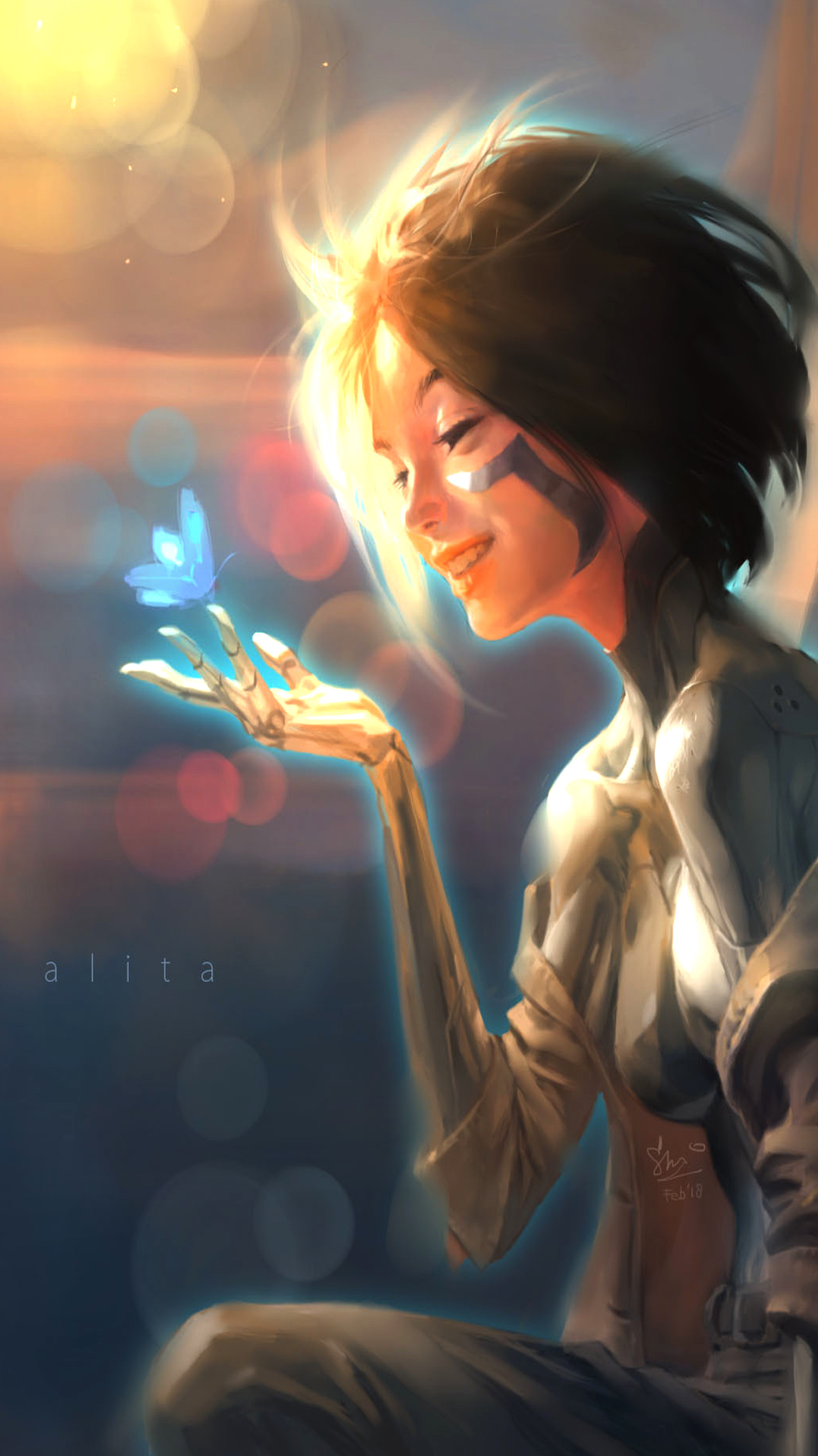 Alita Angel Fan Art Wallpaper