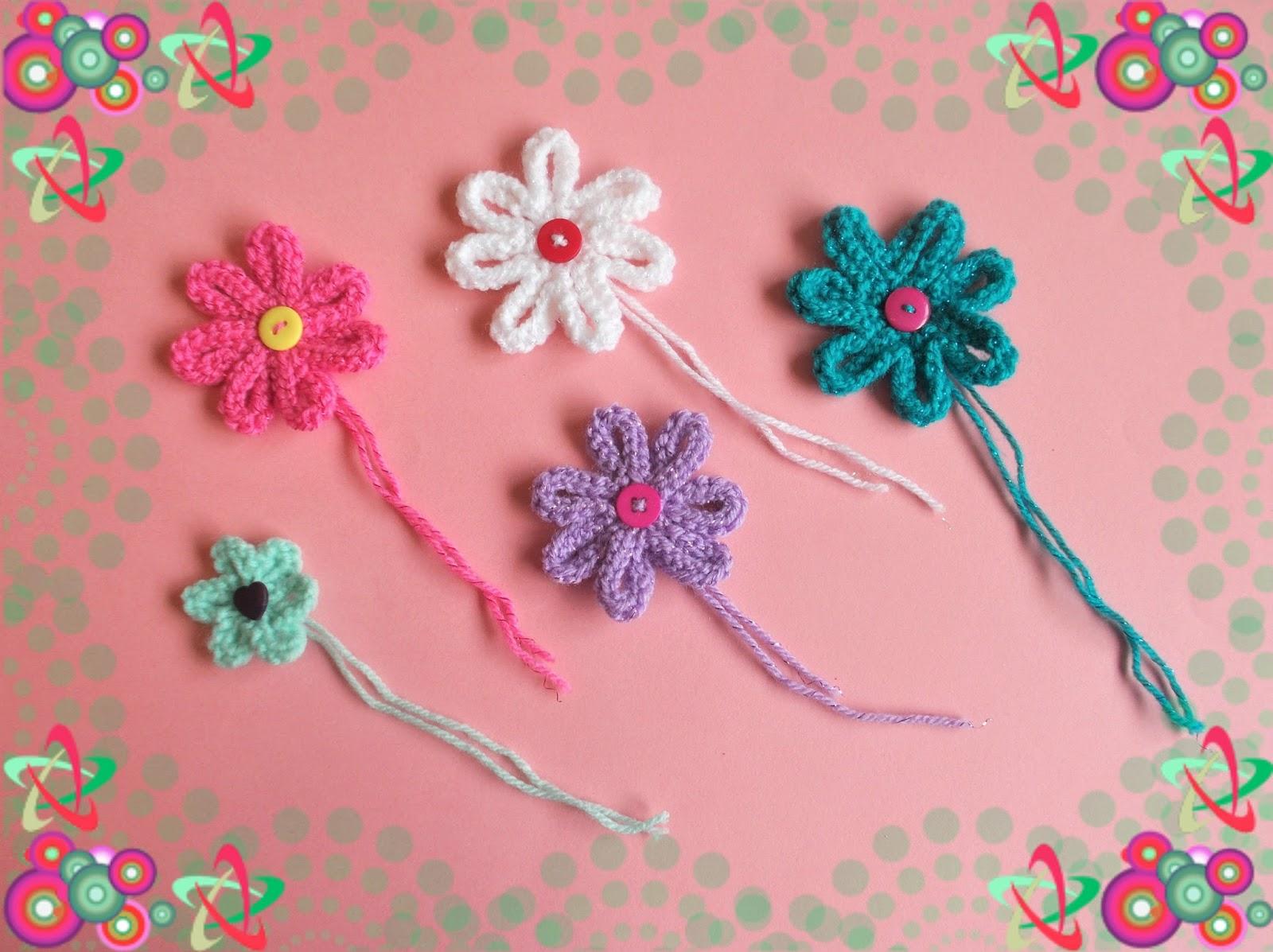 Mariannas Lazy Daisy Days Mariannas Medium Knitted Flowers