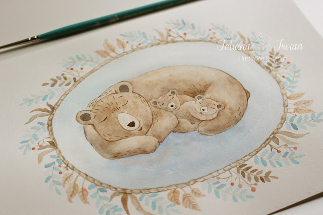 watercolour print for nursery