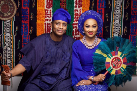 Another pre-wedding photo of Zahra Buhari and Ahmed Indimi