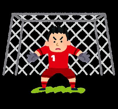 ゴールキーパーとゴールのイラスト(サッカー)