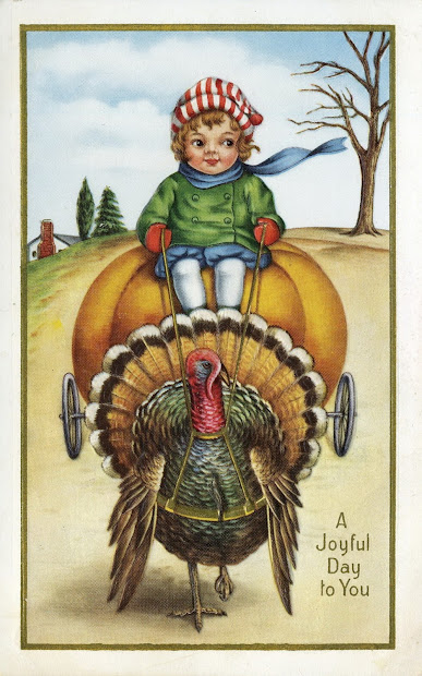 Vintage Happy Thanksgiving Blessings