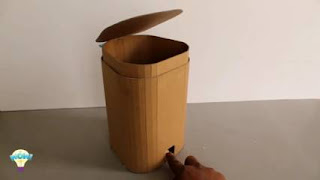 kreasi tong sampah dari kardus