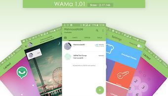 Dowmload - WhatsAppMa (WAMa) v1.01 / Atualizado / Temas / Video Chamadas / New UI / 2 WhatsApp em 1 Aparelho