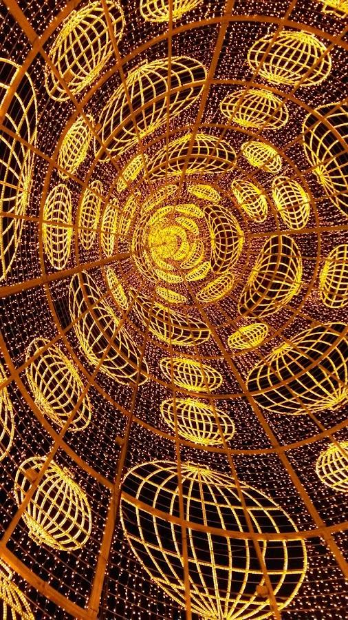 Interior del Árbol de Navidad de la Puerta del Sol