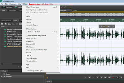 Cara membuat Suara Chipmunk di adobe audition Cs6