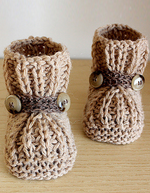 Warm Feet Baby Booties - Knitting Pattern