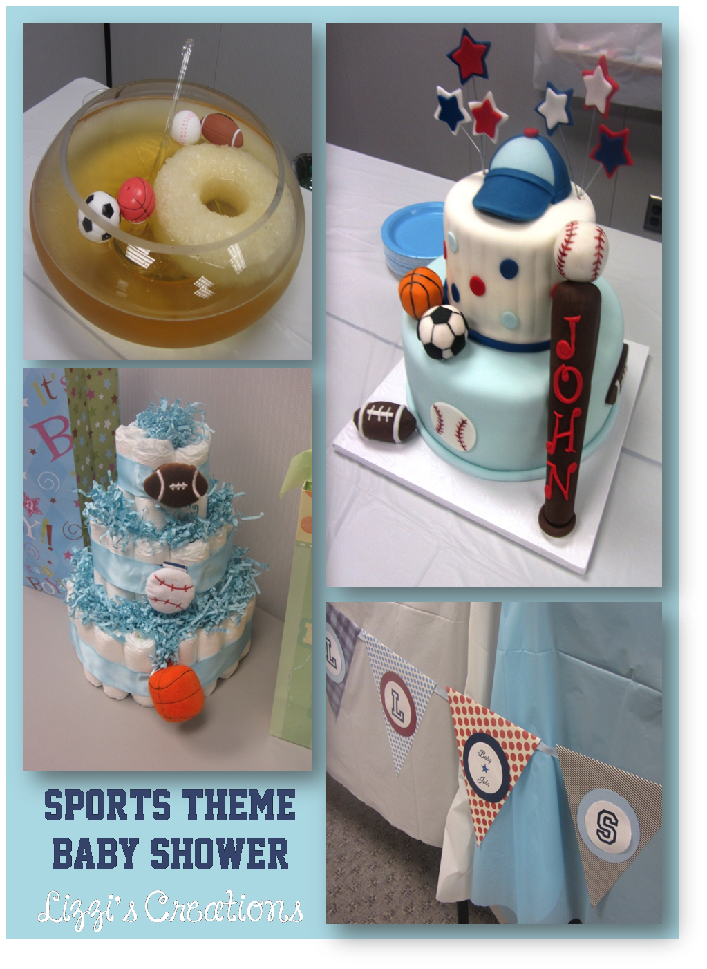Lizzi's Creations: Sports Theme Baby Shower