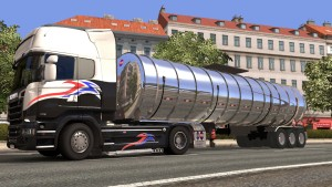 3 Axle Chrome Cistern standalone trailer