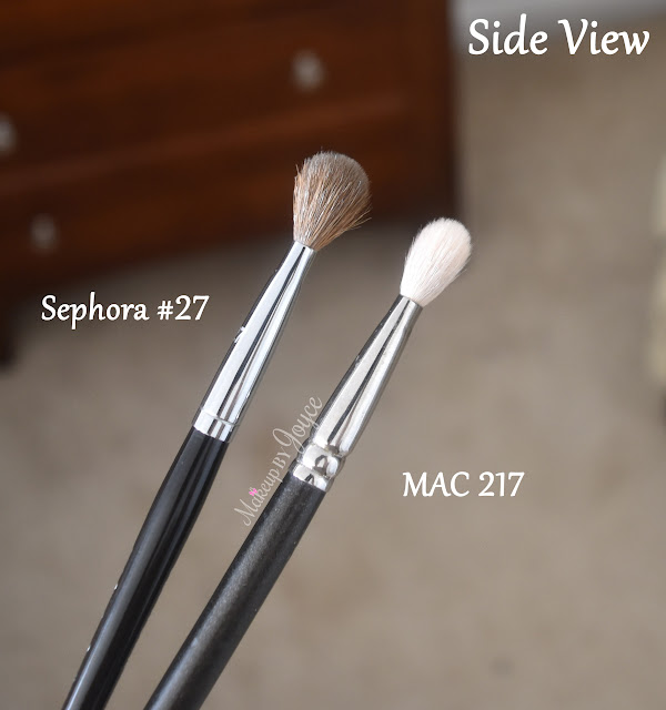 Sephora #27 Brush Review vs MAC 217 Dupe