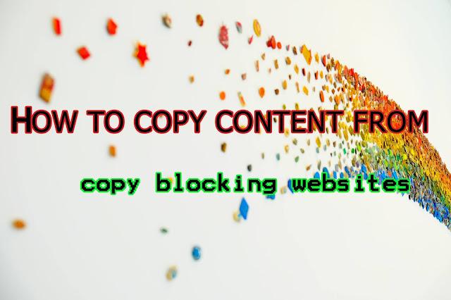 5 cách copy từ những trang không cho copy