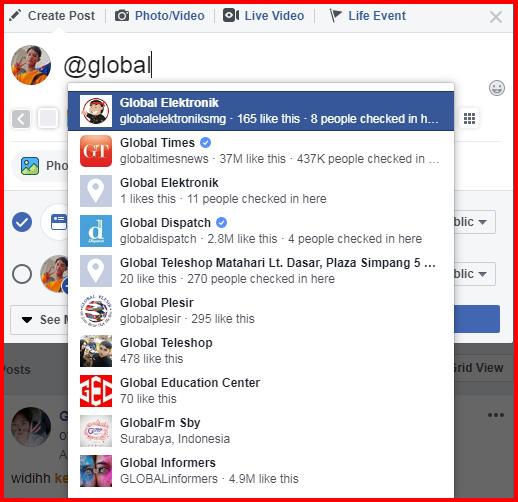Facebook Tag A Page