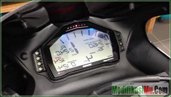 Spido Meter MicroDash Digital - Modifikasi Honda Vario 150 eSP Gaya Sport Matic Ala Moge