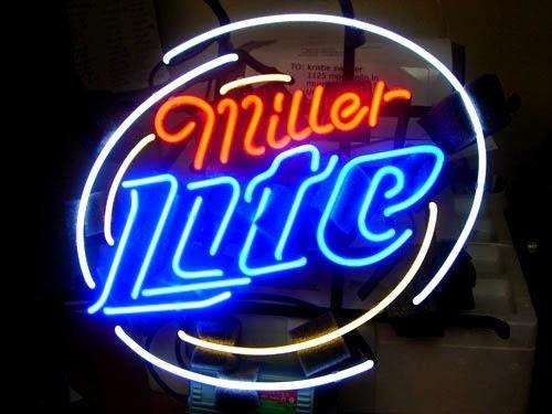 Wiki Neon Sign Blog: MILLER LITE BEER BAR CLUB NEON LIGHT