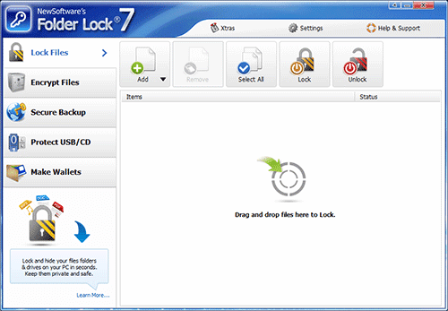 Folder Lock 7.2.6 Screen