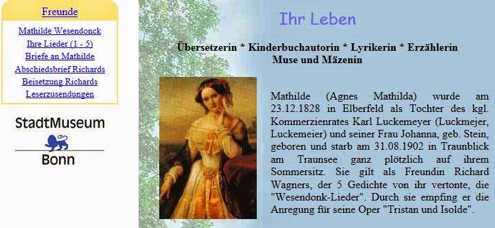 2000: Seiten zu Mathilde Wesendonck auf meiner privaten Homepage