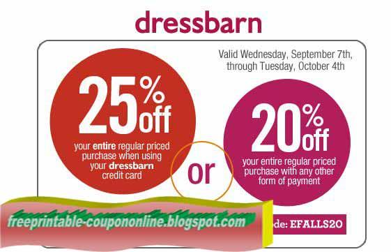 graphic about Dress Barn Coupon Printable named Printable Discount coupons 2019: Gown Barn Discount codes