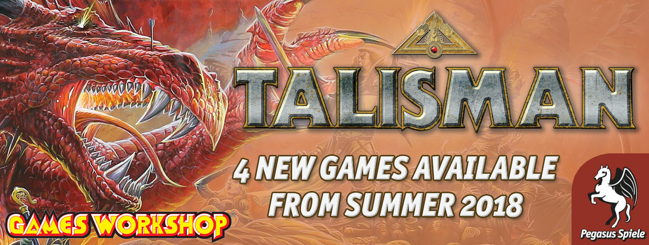 Pegasus Spiele announce 4 new Talisman board games