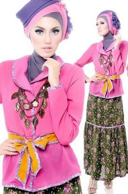 model baju batik muslim remaja tampil cantik