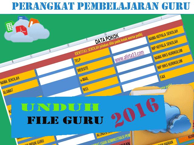 PERANGKAT ADMINISTRASI PEMBELAJARAN GURU 2015-2016