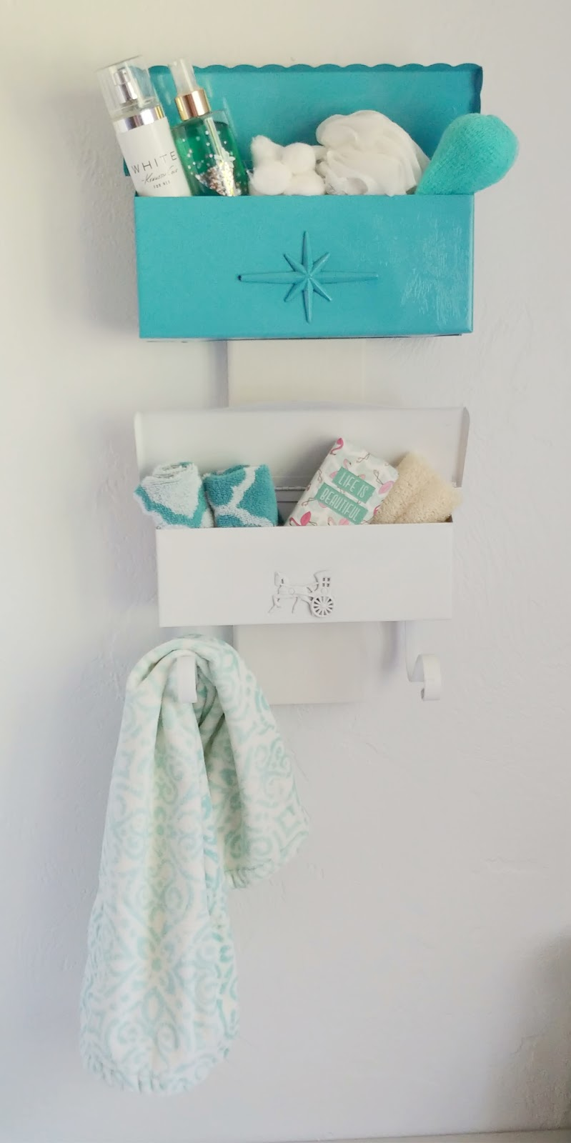 repurposed bathroom storage