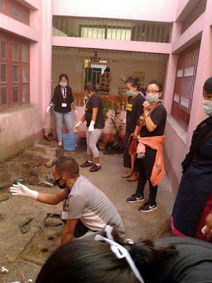 WHO cares cleanliness drive at Rambi BMHO hospital