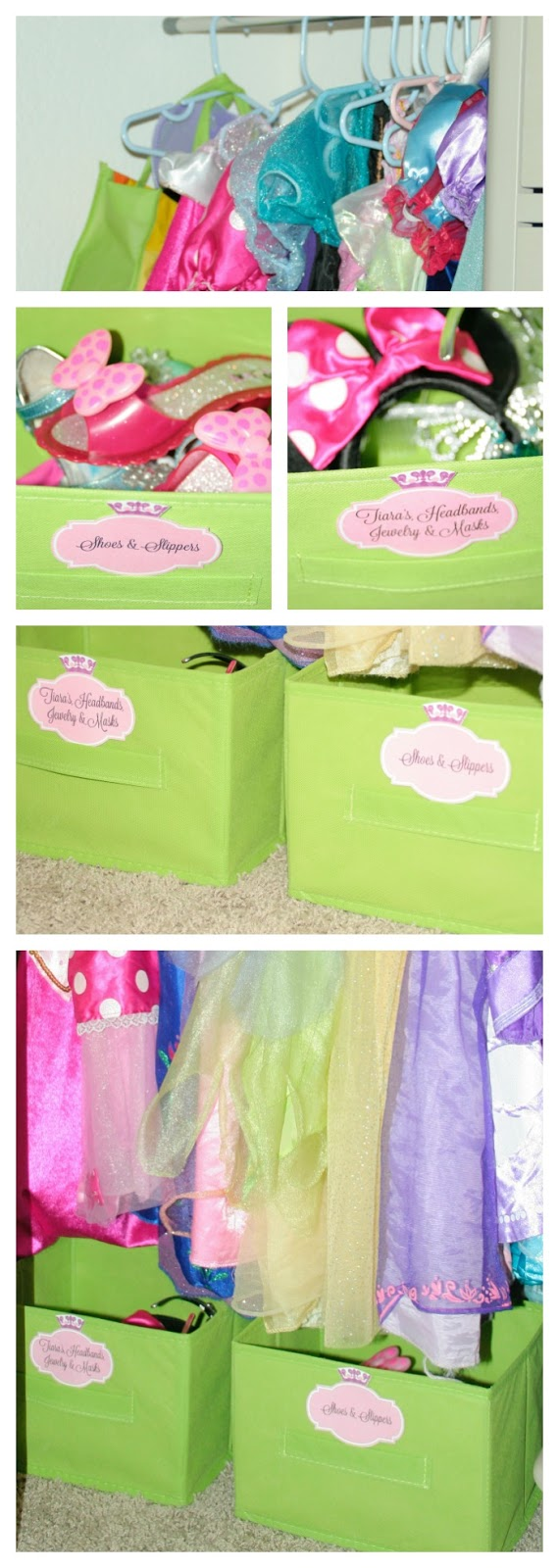 DIY cheap princess dress up station,  how to create a dream or vision board, Disney Princess Dreams, #InspireBigDreams, #DreamBigPrincess, #CollectiveBias, Disney Princess Royal Shimmer Dolls, Sing and Shimmer Princess Rapunzel, Ariel's Sea Castle