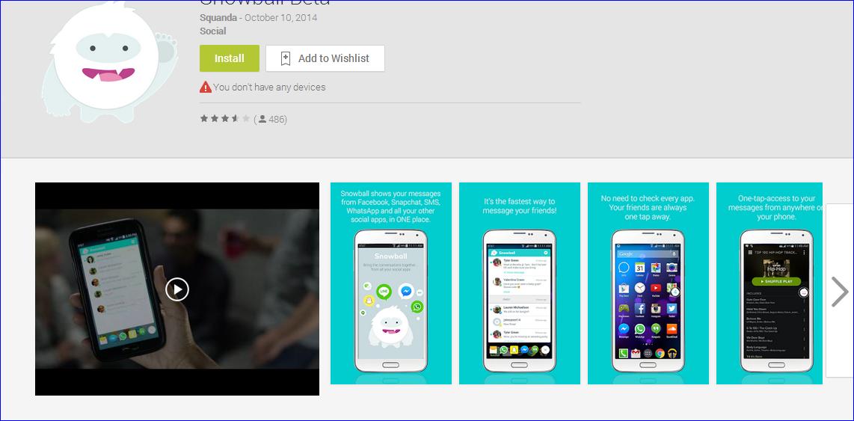 تطبيق مدهش يجمع لك كل إشعارات التطبيقات الأخرى تعرف على تطبيق SNOWBALL