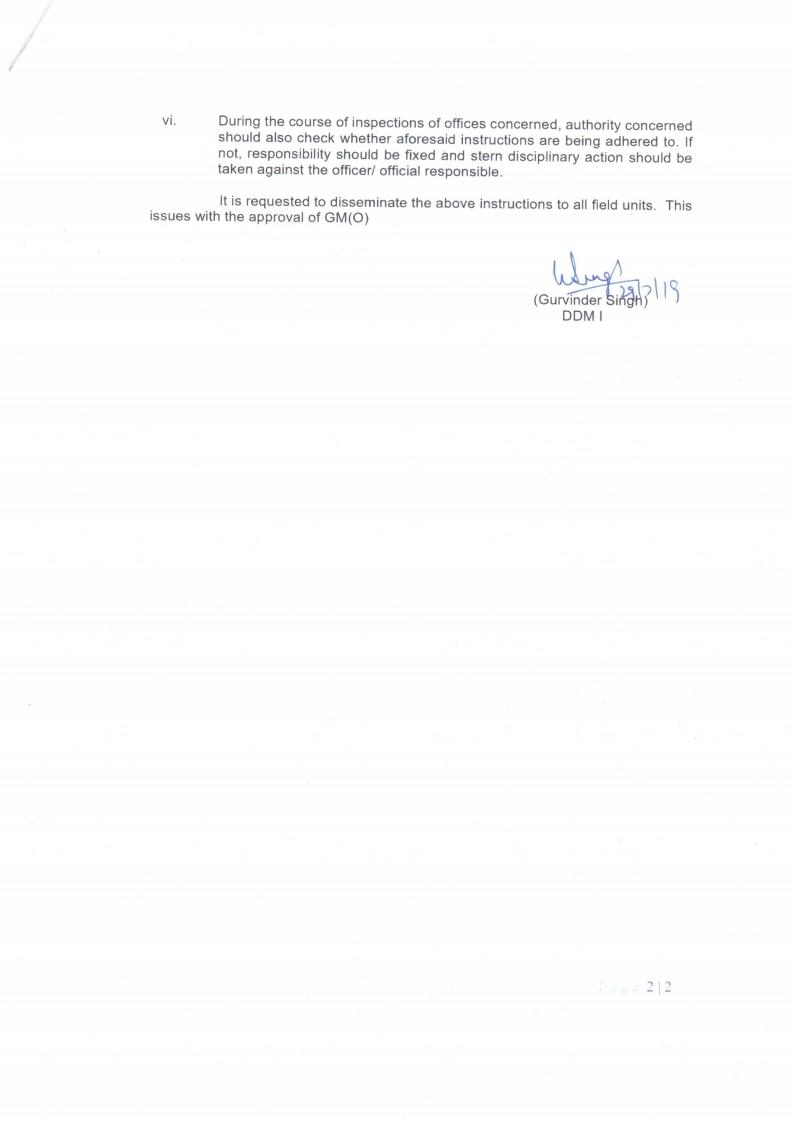 irregular financial transactions in Darpan Device