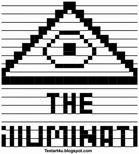 The Illuminati ASCII Text Art  Symbol Cool ASCII Text Art 4 U - cool copy and paste art