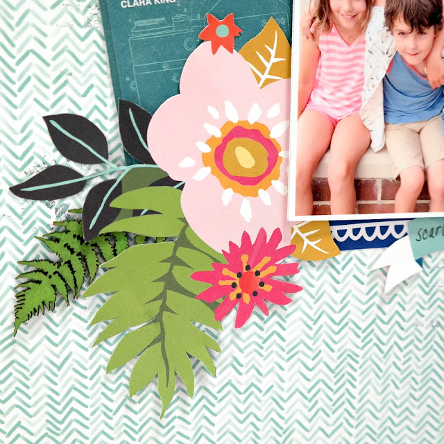 How to Complement Patterned Paper Designs with Chipboard Embellishments Green Ferns