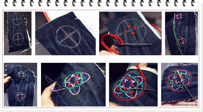 pendientes, bisutería, telas, bordar, sewing, costura, reciclar