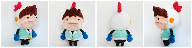 Love you to bits character made of crochet
