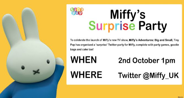 Miffy twitter party invite