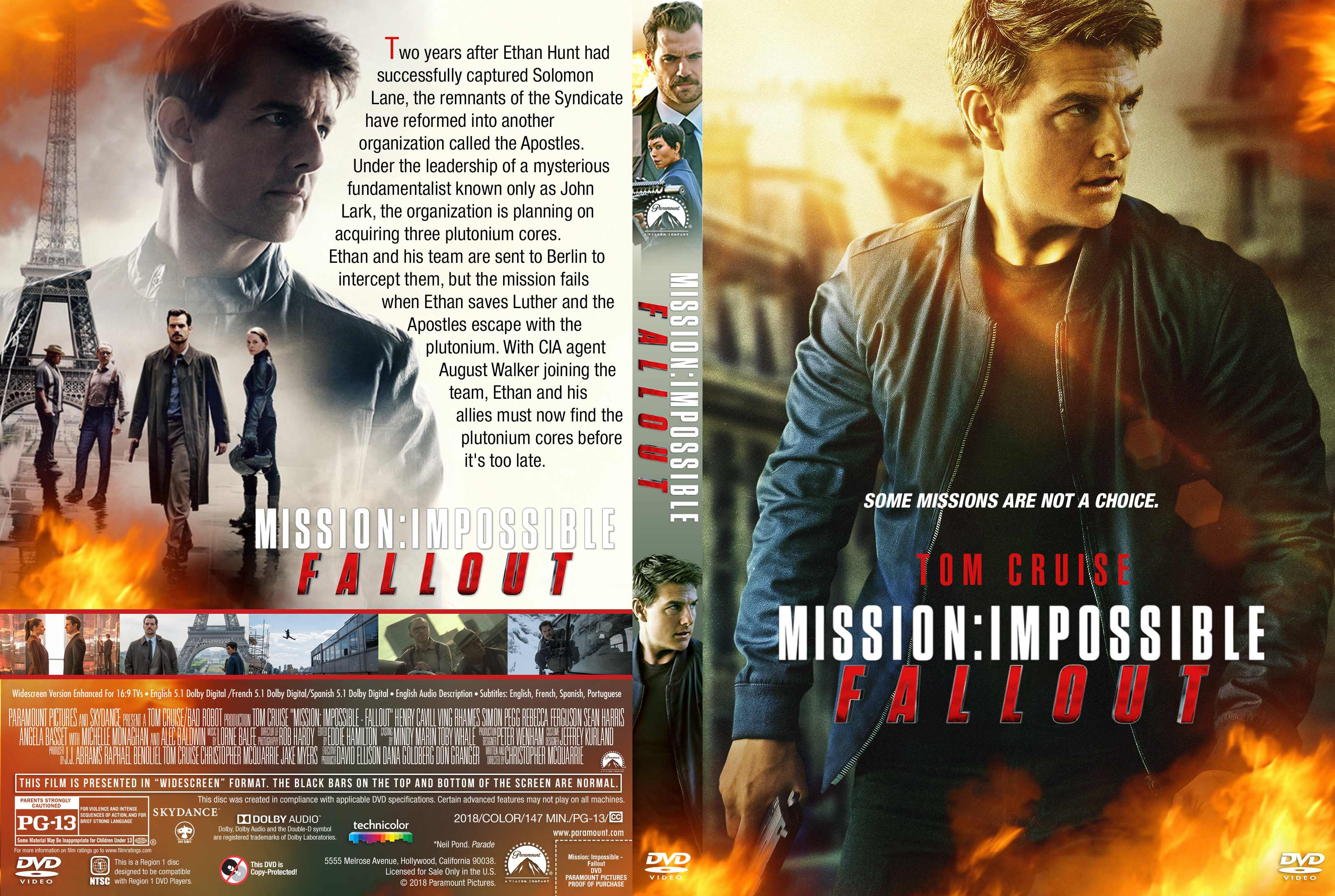 mission impossible fallout dvd