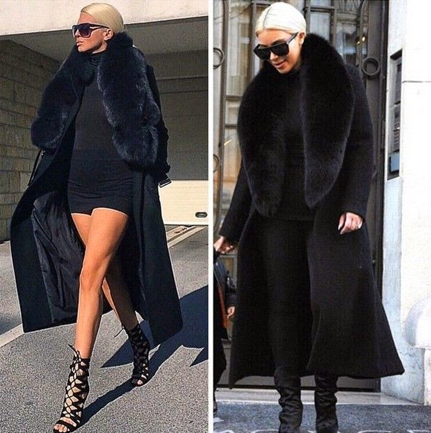 Jelena e Kim Kardaskian mesmo estilo de se vestir