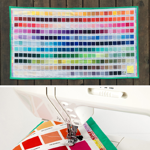 Kaufman Kona Color Chart Mini Quilt - Tutorial
