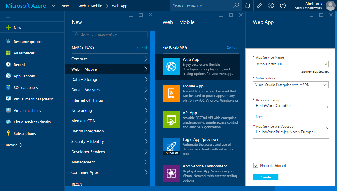 How to upload web site to azure with ftp approach almir vuk for Site plan app