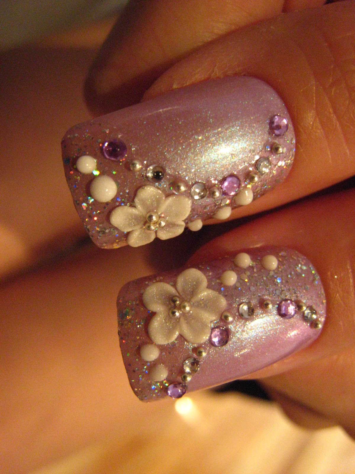 Uñas De Novia Decoradas Jin Jin 39s Adventures Purple Themed Wedding Nails