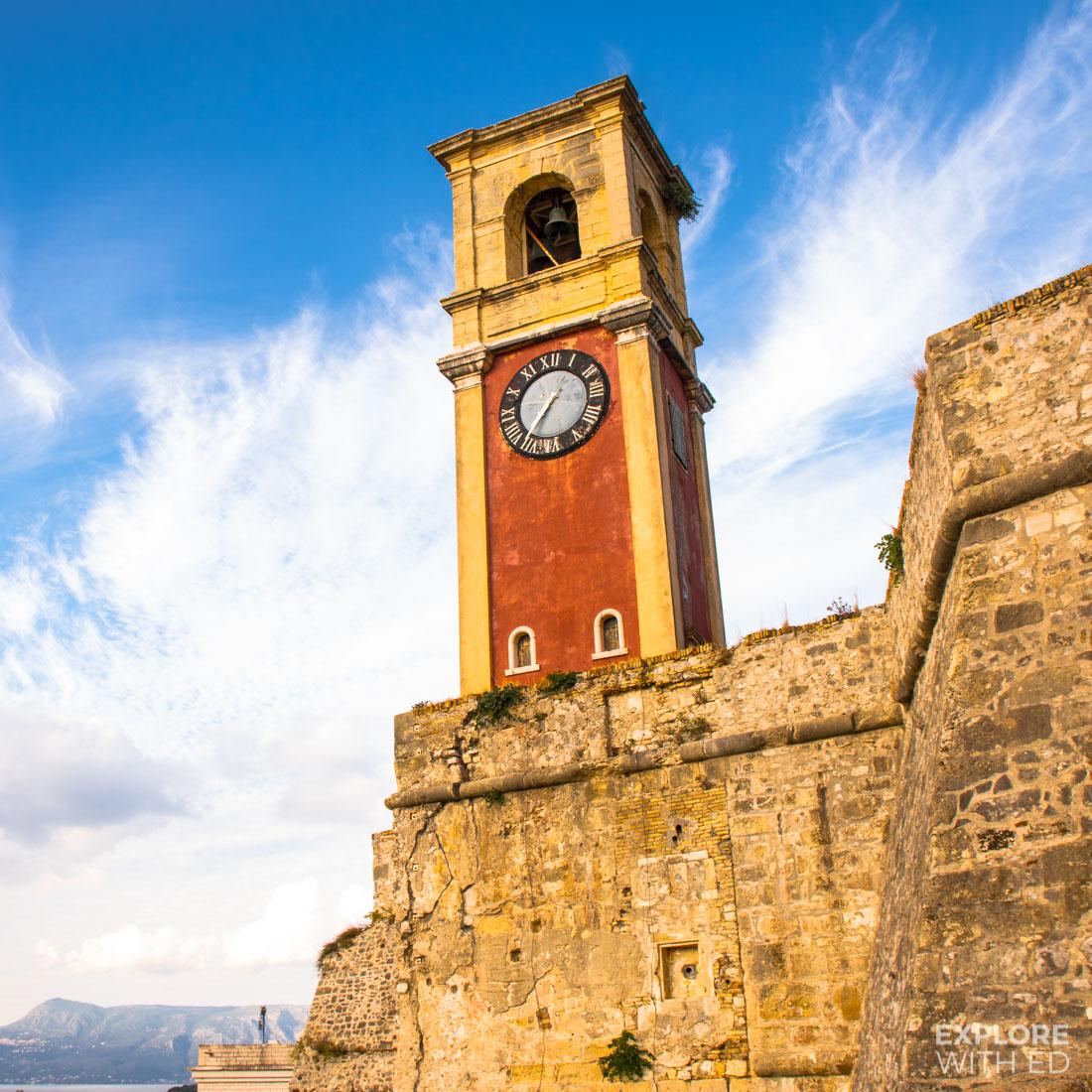 Corfu Town Red Clock Tower