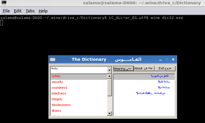 lplll: Fixing Arabic letters in SAKHR Dictionary (DIC32 exe