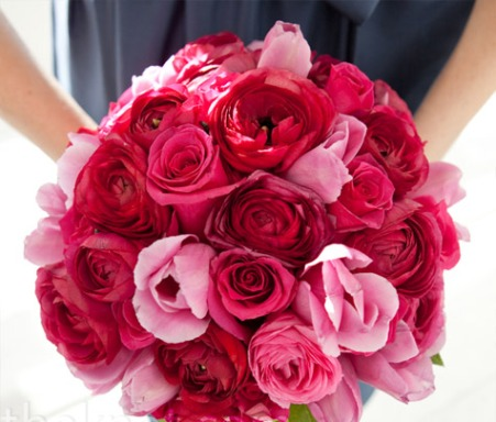 Wedding Bouquet Of Flowers Red