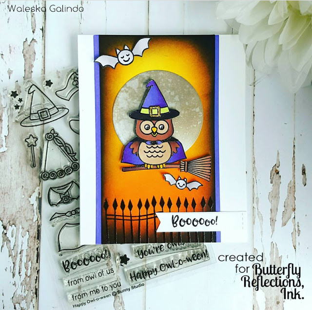 Sunny Studio Stamps: Happy Owl-o-ween card by Waleska Galindo