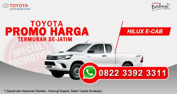 Promo Harga Toyota Hilux E-Cab Surabaya