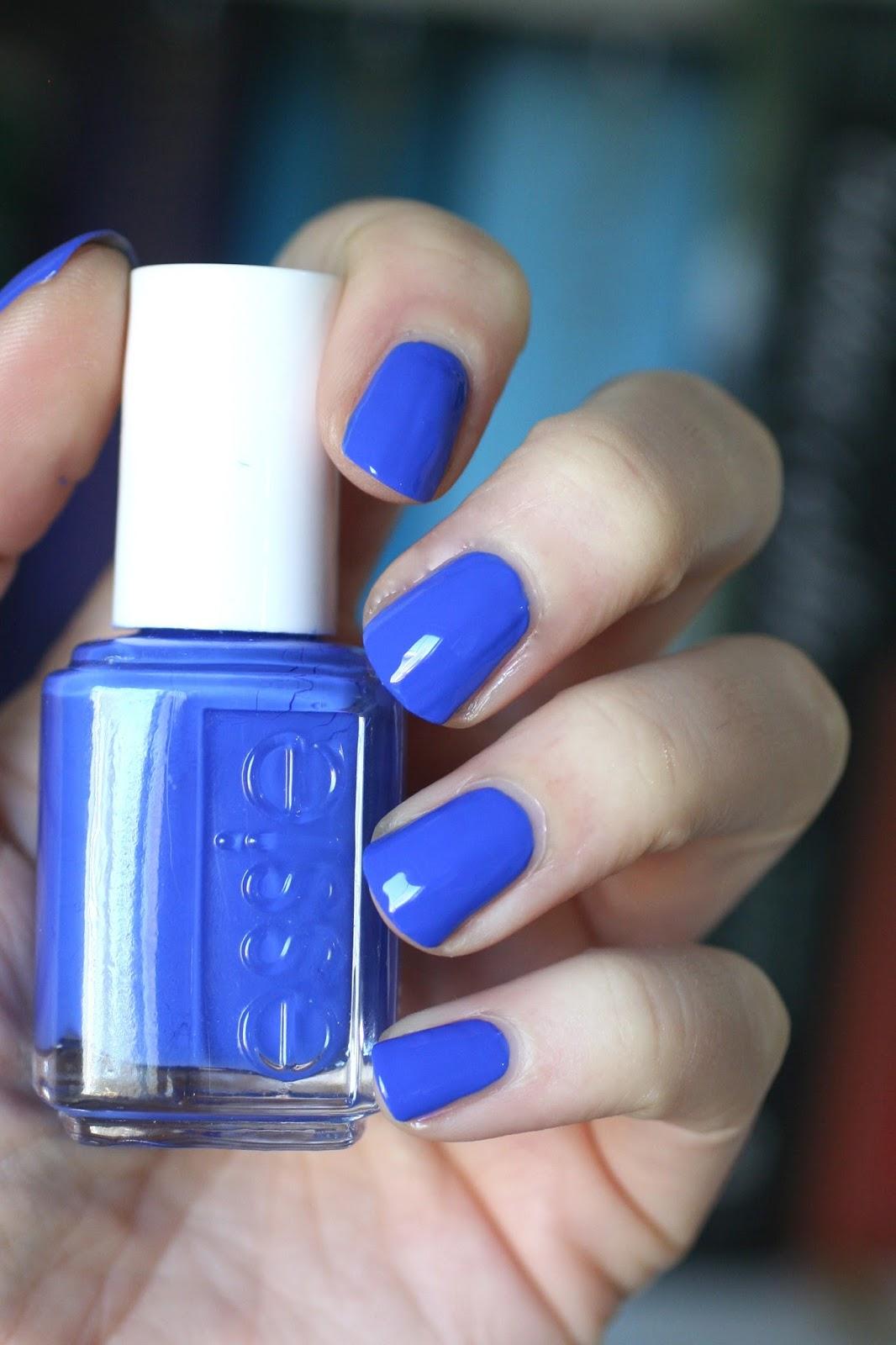 Essie Cobalt Blue Comparison : Butler Please, Mezmerised, Aruba Blue ...