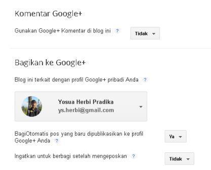mengatur komentar google plus